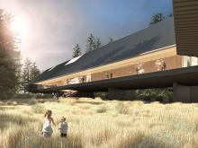 Digital rendering of Paktau Architects' design for the new Audain Art Museum, now under construction in Whistler, British Columbia.