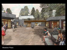 Rendering of IAS design concept, Tod Williams Billie Tsien Architects