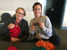 Crochet Coral Reef UC Santa Cruz workshop, October 2016