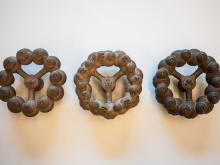 Image Credit: Gene Felice, Oceanic Scales Project, Molecular Rings cast from 3-D Printed Prototypes