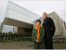 Billie Tsien, left, and Tod Williams, the architects for the Institute, pictured with their recently completed Barnes Foundation museum in Philadelphia.