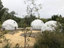 The three eco-domes at the UCSC Arboretum that are the main focus of the 'Future Garden' project.