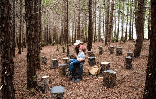 Visitors to FOREST, photo by Lewis Watts