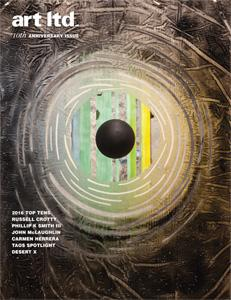 Cover of January/February art ltd. magazine