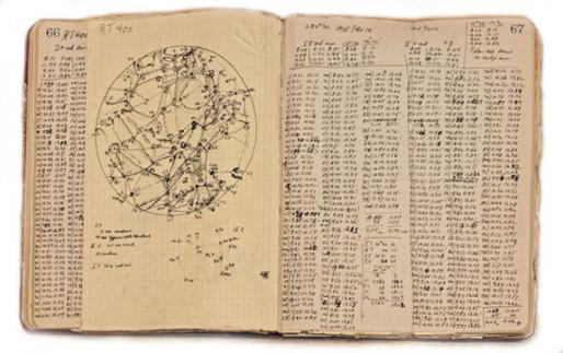 Astronomer's observation log book, Lick Observatory Collection