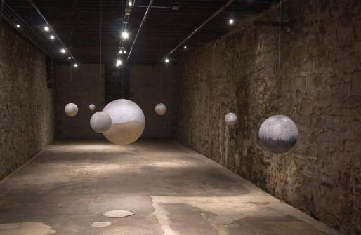 "Russell Crotty, ""Nightfall,"" 2005, installation at The Mattress Factory, ""Messages and Communications"" group exhibition"