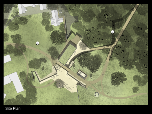 Site plan of IAS design concept, Tod Williams Billie Tsien Architects