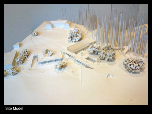 Site model of IAS design concept, Tod Williams Billie Tsien Architects