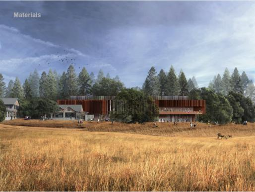 Exterior rendering of IAS design concept, Patkau Architects