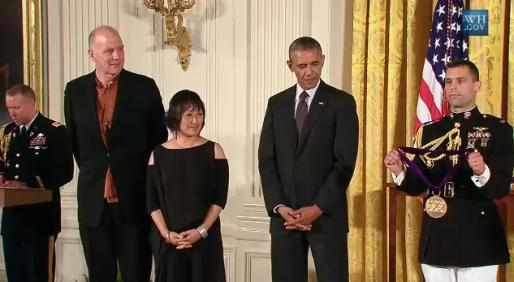 Tod Williams and Billie Tsien at the White House