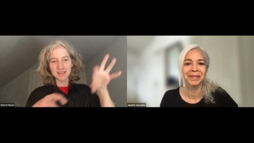TRACTION: ART TALK WITH SHARON HAYES IN CONVERSATION WITH JENNIFER GONZÁLEZ, APRIL 22, 2021