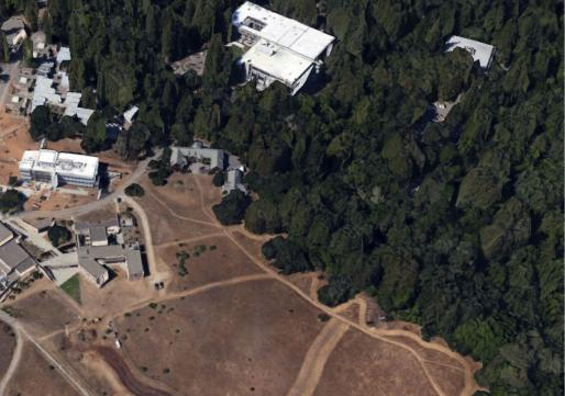 Aerial view of site area
