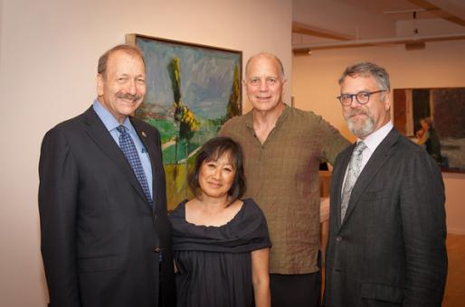 Chancellor Blumenthal, Billie Tsien, Tod Williams, and Nion McEvoy at the Berggruen Gallery IAS Fundraiser