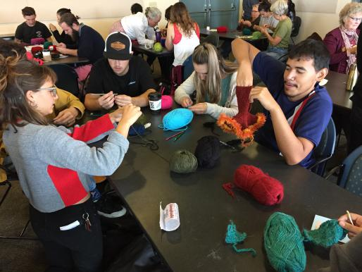 Students & community members working on the UC Santa Cruz Satellite Reef