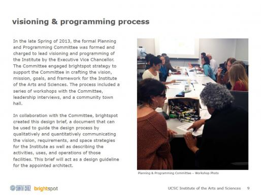 IAS Design Brief Excerpt:  Planning Process, February 2014