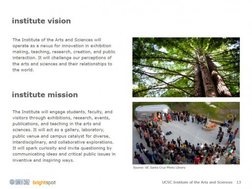 IAS Design Brief Excerpt:  Mission and Vision