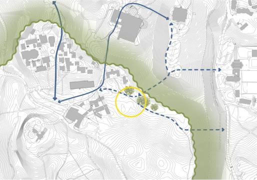 Proposed pedestrian paths