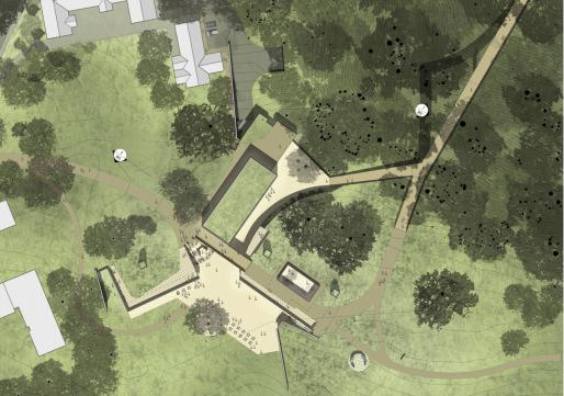 Site concept by Tod Williams Billie Tsien Architects