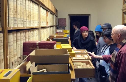 UCSC Students at Lick Observatory with Lick Collections Project Director Tony Misch.