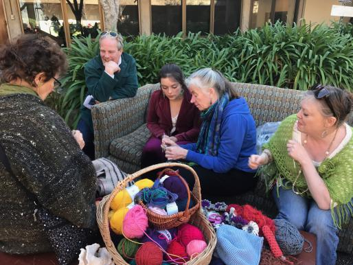 Crochet workshop at UCSC