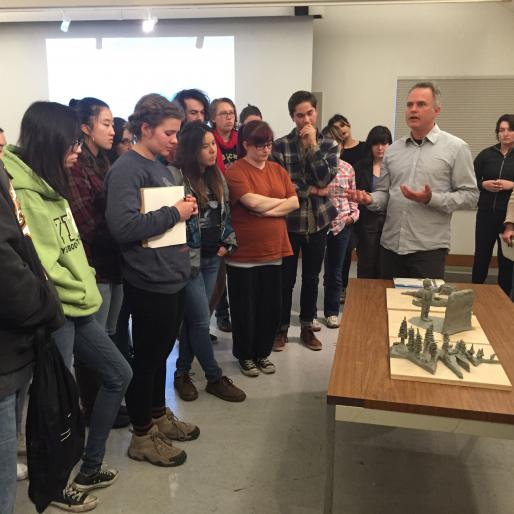 Harrell Fletcher visits A. Laurie Palmer's Advanced Sculpture class