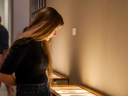 A UCSC student visits Look Back in Time at the San Jose ICA.