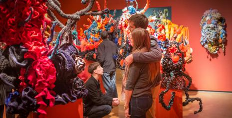 The Crochet Coral Reef, by Margaret & Christine Wertheim and the Institute For Figuring, as installed at UC Santa Cruz.
