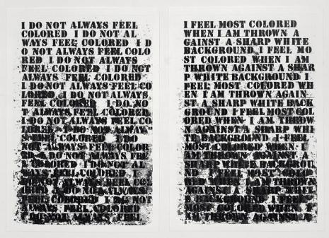 Glenn Ligon, Untitled (Four Etchings), 1992 DETAIL